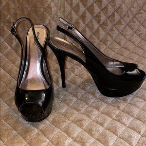 Charlotte Russe Black Patent Leather Heels